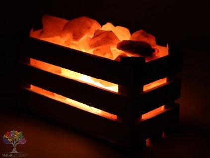 Solná lampa elektrická dřevěný koš 3.200 Kg #43
