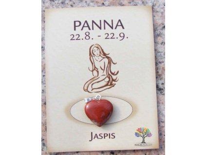 Kámen podle znamení - PANNA - tvar srdce  + až 10% sleva po registraci