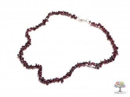 Náhrdelník Granát tromlovaný #11 - z přírodních kamenů  + sleva 5% po registraci na většinu zboží + dárek k objednávce