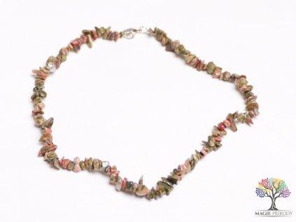 Náhrdelník Unakit tromlovaný #33 - z přírodních kamenů  + sleva 5% po registraci na většinu zboží + dárek k objednávce