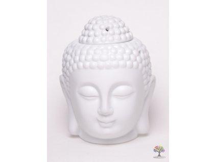 Aroma lampa Buddha - keramická bílá matná 04