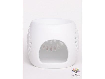 Aroma lampa keramická bílá matná 08