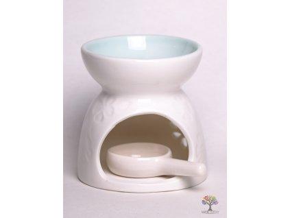 Aroma lampa keramická bílá lesklá 14