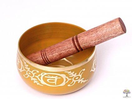 Tibetská miska 2. čakra oranžová - zpívající mísa 12 cm - 680 g s paličkou #07  + až 10% sleva po registraci