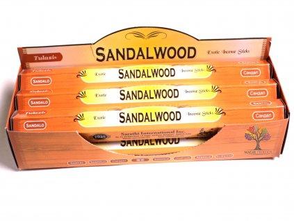 Vonné tyčinky Tulasi  Sandalwood - vůně Santalové dřevo - 20 ks - #03