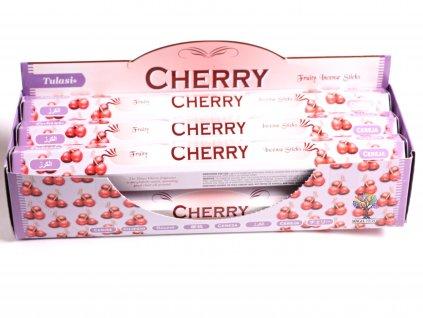 Vonné tyčinky Tulasi Cherry - vůně Třešeň a Višeň - 20 ks - #05  + sleva 5% po registraci na většinu zboží + dárek k objednávce