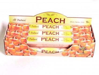 Vonné tyčinky Tulasi  Peach - vůně Broskev - 20 ks - #06