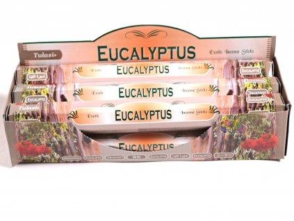 Vonné tyčinky Tulasi Eucalyptus - vůně Eukalyptus - 20 ks - #09