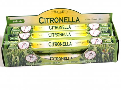 Vonné tyčinky Tulasi Citronella - vůně Citrusová tráva - 20 ks - #10  + sleva 5% po registraci na většinu zboží + dárek k objednávce