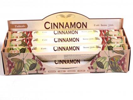 Vonné tyčinky Tulasi Cinnamon - vůně Skořice - 20 ks - #13