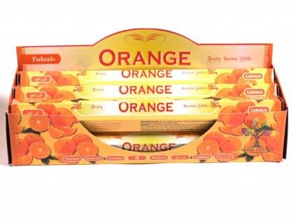 Vonné tyčinky Tulasi Orange - vůně Pomeranč - 20 ks - #15