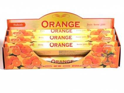 Vonné tyčinky Tulasi Orange - vůně Pomeranč - 20 ks - #15  + až 10% sleva po registraci