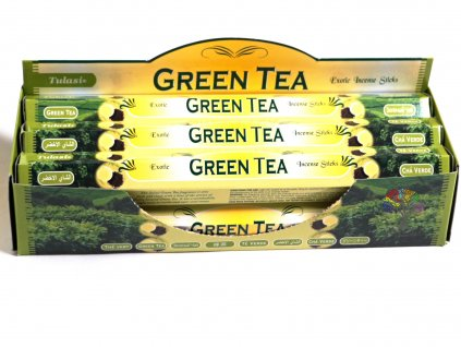 Vonné tyčinky Tulasi Green Tea - vůně Zelený čaj - 20 ks - #16  + sleva 5% po registraci na většinu zboží + dárek k objednávce