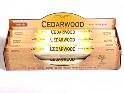 Vonné tyčinky Tulasi Cedarwood - vůně Cedr - 20 ks - #18
