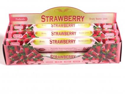 Vonné tyčinky Tulasi Strawberry - vůně Jahoda - 20 ks - #19