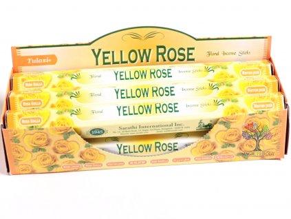 Vonné tyčinky Tulasi Yellow Rose - vůně Žlutá Růže - 20 ks - #20