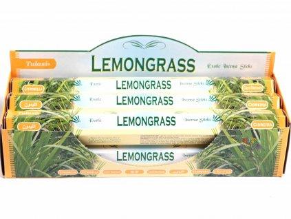 Vonné tyčinky Tulasi Lemongrass - vůně Citrónová tráva - 20 ks - #23