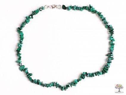 Náhrdelník Malachit tromlovaný #20 - z přírodních kamenů  + sleva 5% po registraci na většinu zboží + dárek k objednávce