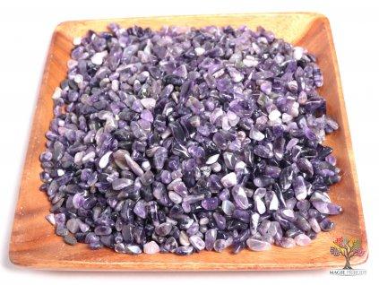 Tromlované kamínky Ametyst S - kameny o velikosti 15 - 25 mm - 500 g - Zambie