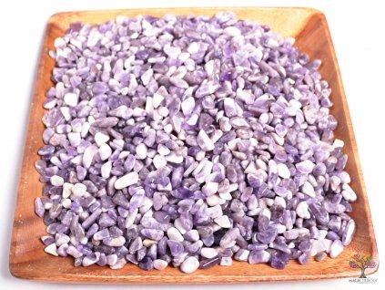Tromlované kamínky Ametyst S - kameny o velikosti 15 - 25 mm - 1kg - Malawi