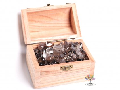 Magická truhlička s kamínky Záhnědy - velikost S (15 - 25) mm - Brazílie