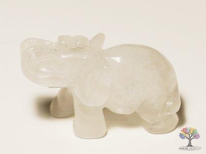 Slon Křišťál 30x50 mm - Slon z přírodního kamene #2