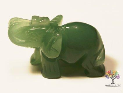 Slon Avanturín 30x50 mm - Slon z přírodního kamene #1