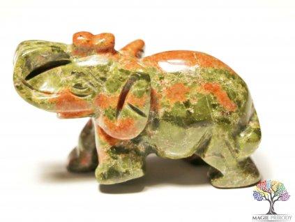 Slon Unakit 30x50 mm - Slon z přírodního kamene #9