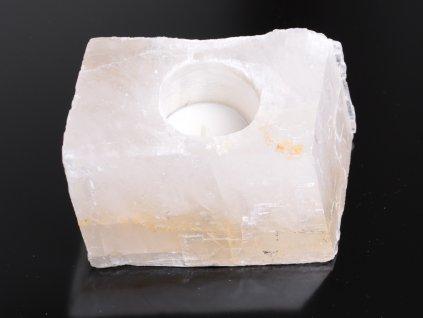 Svícen na svíčku - Kalcit přírodní broušený - 0.880 kg #05