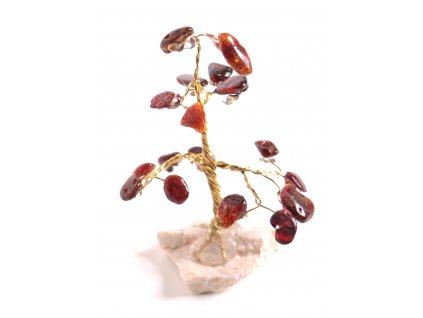 Jantarový stromeček štěstí 7 cm #12