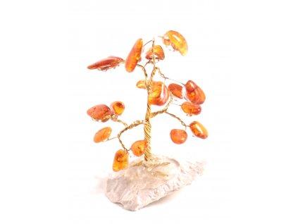 Jantarový stromeček štěstí 7 cm #13