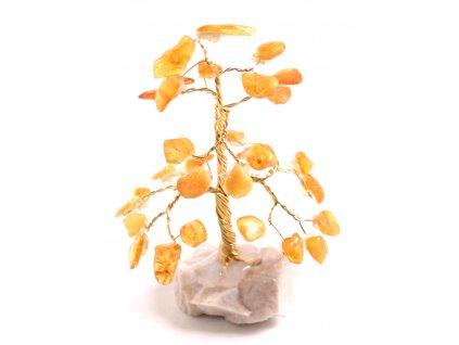Jantarový stromeček štěstí 8 cm #21