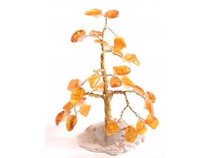 Jantarový stromeček štěstí 8 cm #23