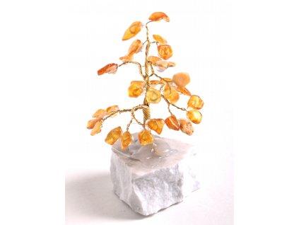 Jantarový stromeček štěstí 9 cm #32