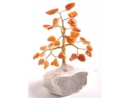 Jantarový stromeček štěstí 9 cm #33