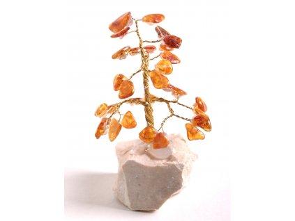 Jantarový stromeček štěstí 9 cm #39
