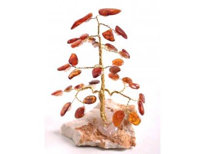 Jantarový stromeček štěstí 11 cm #43  + až 10% sleva po registraci
