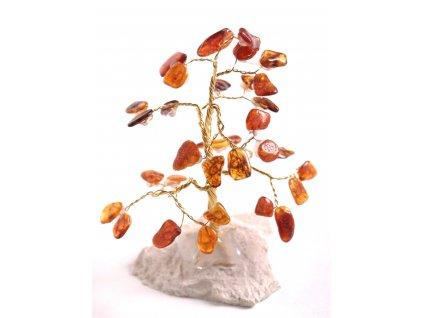 Jantarový stromeček štěstí 11 cm #45