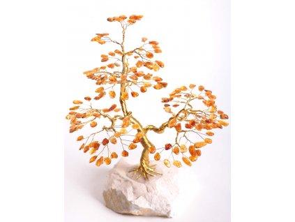 Jantarový stromeček štěstí 24 cm #49