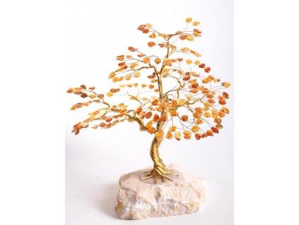 Jantarový stromeček štěstí 22 cm #50