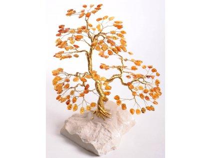 Jantarový stromeček štěstí 22 cm #51