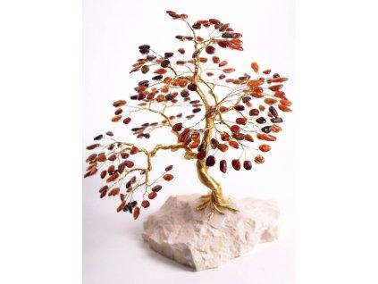 Jantarový stromeček štěstí 22 cm #52  + až 10% sleva po registraci