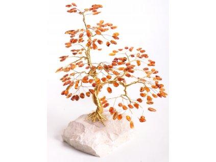 Jantarový stromeček štěstí 22 cm #53