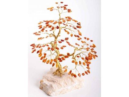 Jantarový stromeček štěstí 22 cm #54  + sleva 5% po registraci na většinu zboží + dárek k objednávce