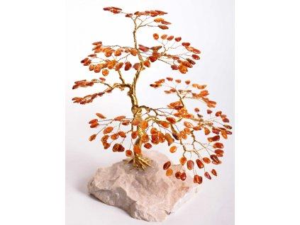 Jantarový stromeček štěstí 23 cm #56