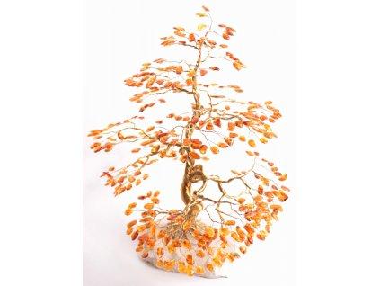 Jantarový stromeček štěstí 38 cm #60