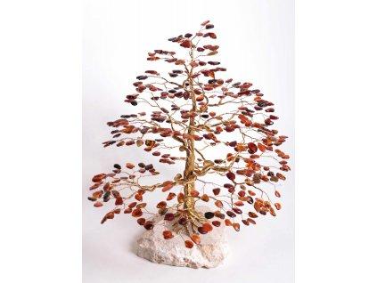 Jantarový stromeček štěstí 34 cm #61