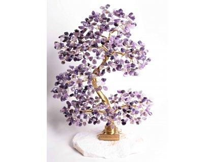 Ametystový stromeček štěstí 35 cm + dárkové balení #64