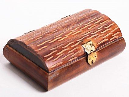 Magická dřevěná truhlička - šperkovnice - #02 - Indie