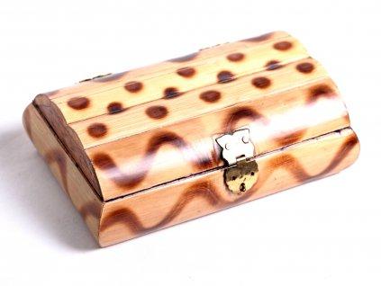 Magická dřevěná truhlička - šperkovnice #03 - Indie